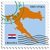 Vector clipart: mail to-from Croatia