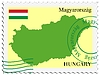 Vector clipart: mail to-from Hungary