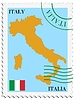 Vector clipart: mail to-from Italy