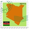 Vector clipart: mail to-from Kenya