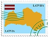 Vector clipart: mail to-from Latvia