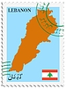 Vector clipart: mail to-from Lebanon