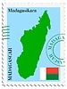 Vector clipart: mail to-from Madagascar