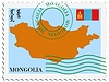Vector clipart: mail to-from Mongolia