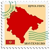 Vector clipart: mail to-from Montenegro