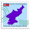 Vector clipart: mail to-from North Korea