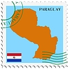 Vector clipart: mail to-from Paraguay