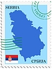Vector clipart: mail to-from Serbia