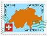 Vector clipart: mail to-from Switzerland