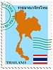 Vector clipart: mail to-from Thailand
