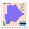 Vector clipart: mail to-from Botswana