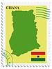 Векторный клипарт: почты, из Ганы