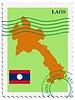 Векторный клипарт: почты, из Лаоса