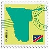 Vector clipart: mail to-from Namibia