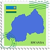 Vector clipart: mail to-from Rwanda