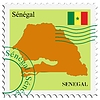 Vector clipart: mail to-from Senegal