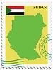 Vector clipart: mail to-from Sudan