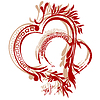 Vector clipart: heart calligraphy