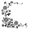 Vector clipart: ornament flowers