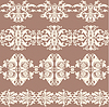 Vector clipart: Vintage webbing, lace, border, banner seamless pattern