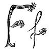 Векторный клипарт: Письмо F F