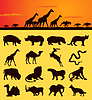 Vector clipart: African animals