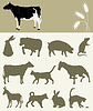 Vector clipart: farm animals