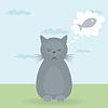 Векторный клипарт: Кошачьи мечты