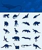 Векторный клипарт: Коллекция динозавров
