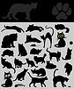 Векторный клипарт: Коллекция кошек
