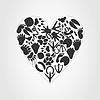 Векторный клипарт: Сердце животного