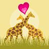 Векторный клипарт: Любовь жирафа