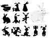 Векторный клипарт: кролики