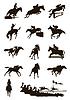 Векторный клипарт: Спорт на лошадях