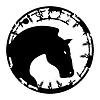 Векторный клипарт: Печать лошадь