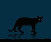 Векторный клипарт: рамка с пантерой
