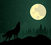 Vector clipart: wolf