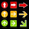 Векторный клипарт: Стрелка светофор