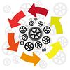 Векторный клипарт: Circulation