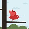 Векторный клипарт: Птицы любви