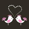 Векторный клипарт: Птица love
