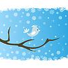 Векторный клипарт: Птица на дереве