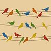 Векторный клипарт: Птица на проводе
