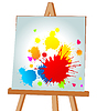 Vector clipart: Blots on an easel