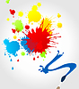 Vector clipart: Brush and blots