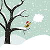 Vector clipart: Christmas bird