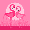 Vector clipart: Flamingo