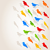 Vector clipart: Flight of birds