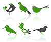 Vector clipart: Icons of birds