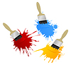 Vector clipart: Paint and brush